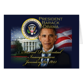 President Obama 2nd Inauguration Card