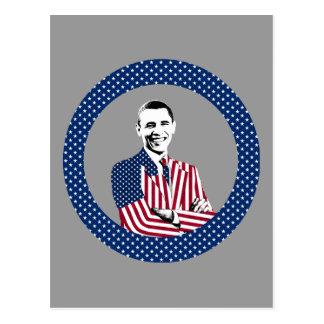 President Obama and U.S. Flag Design Postcard