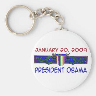 President Obama Basic Round Button Key Ring