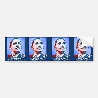 President Obama, Change is Now Sticker Bumper Sticker