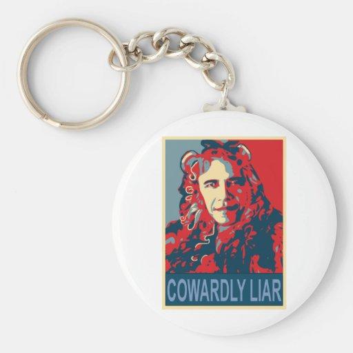 President Obama - Cowardly Liar Keychain