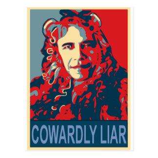 President Obama - Cowardly Postcard