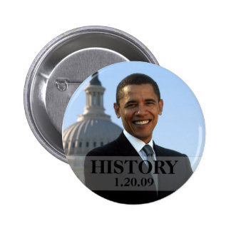 President Obama History 1/20/09 6 Cm Round Badge