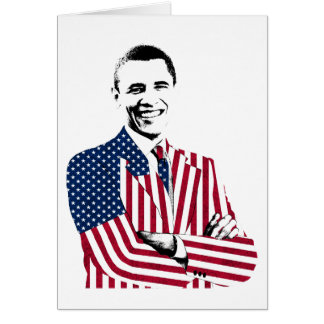 President Obama in an American Flag Suit Greeting Card