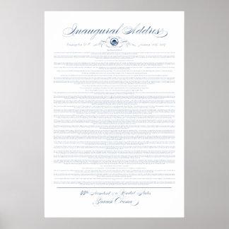 President Obama Inaugural Adress Print