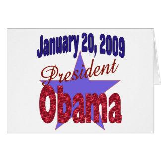 President Obama Inauguration Card