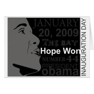 President Obama - Inauguration day Card