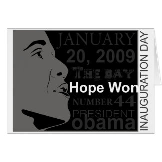 President Obama - Inauguration day Greeting Card