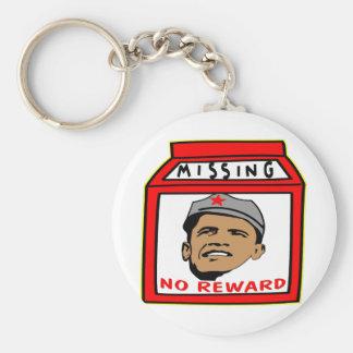 President Obama Missing No Reward Basic Round Button Key Ring