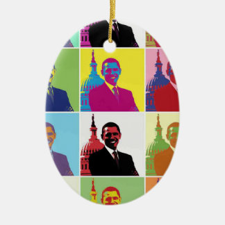 President Obama Pop Art Ceramic Ornament