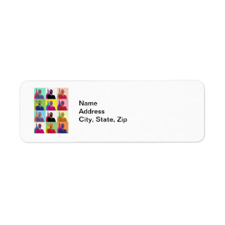 President Obama Pop Art Return Address Label