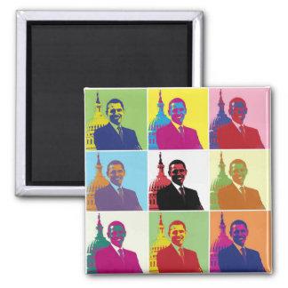 President Obama Pop Art Square Magnet