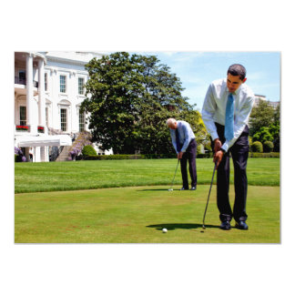 President Obama & VP Biden At The White House 11 Cm X 16 Cm Invitation Card