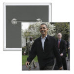 President Obama walks to the basketball courst Pin