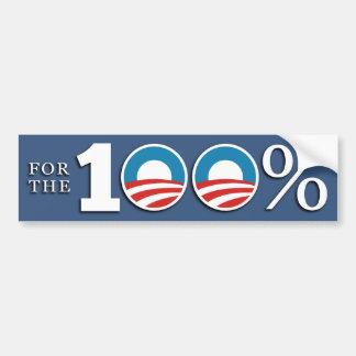 President of the 100 Percent Bumper Sticker