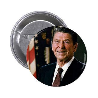 President Reagan 6 Cm Round Badge