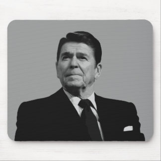 President Reagan -- Black and White Mouse Pad