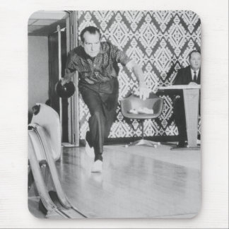 President Richard Nixon Bowling At The White House Mouse Pad