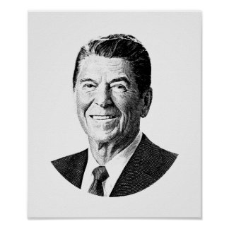 President Ronald Reagan Graphic Poster