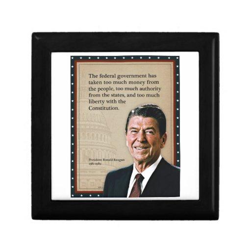 President Ronald Reagan Quote Keepsake Boxes