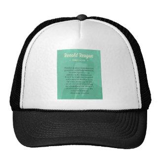 President Ronald Reagan Quote Trucker Hat