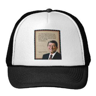 President Ronald Reagan Quote Mesh Hat