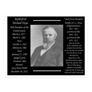President Rutherford B Hayes Postcard