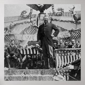 President Teddy Roosevelt in Wyoming 1903 Poster