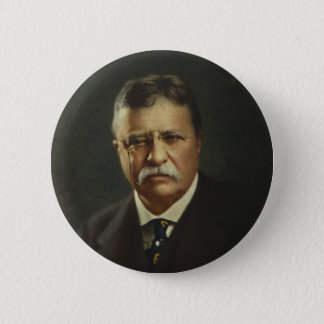 President Theodore Roosevelt by Forbes Lithography 6 Cm Round Badge