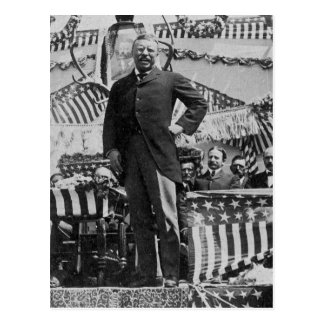 President Theodore Roosevelt in Wyoming Postcard