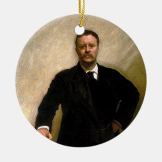 President Theodore Roosevelt John Singer Sargent Ceramic Ornament