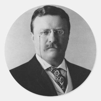 President Theodore Roosevelt Portrait Classic Round Sticker