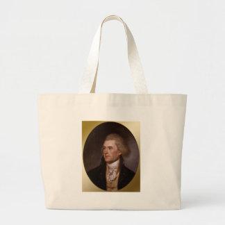 President Thomas Jefferson Jumbo Tote Bag
