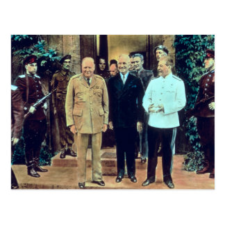 President Truman and Joseph Stalin Postcard