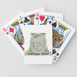 President Trump Dollar Bicycle Playing Cards