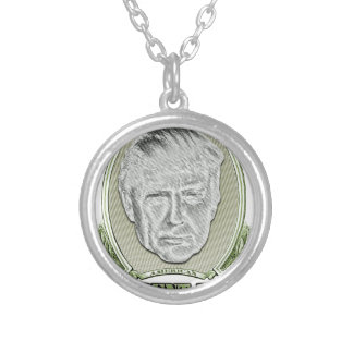 President Trump Dollar Silver Plated Necklace