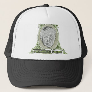 President Trump Dollar Trucker Hat
