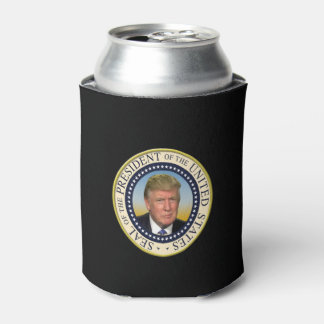 President Trump Photo Presidential Seal Can Cooler