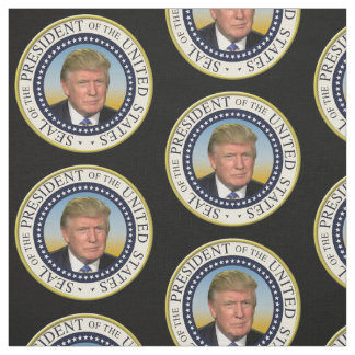 President Trump Photo Presidential Seal Fabric