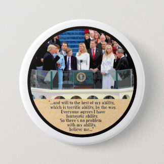 President Trump takes the Oath 7.5 Cm Round Badge