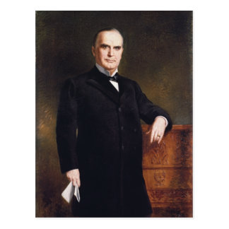 President William McKinley by August Benziger 1897 Postcard