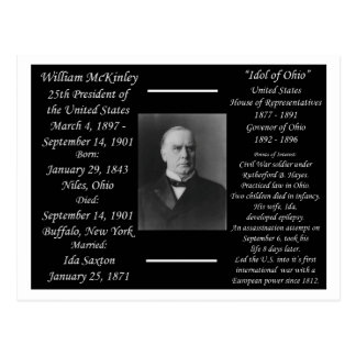 President William McKinley Postcard