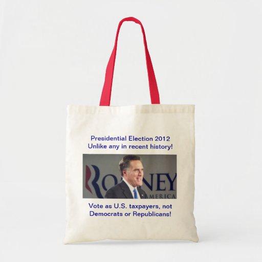 Presidential Election 2012 Romney Photo Bag