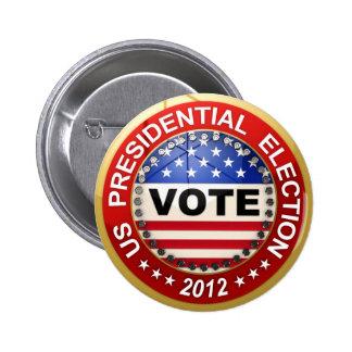 Presidential Election 2012 Vote 6 Cm Round Badge