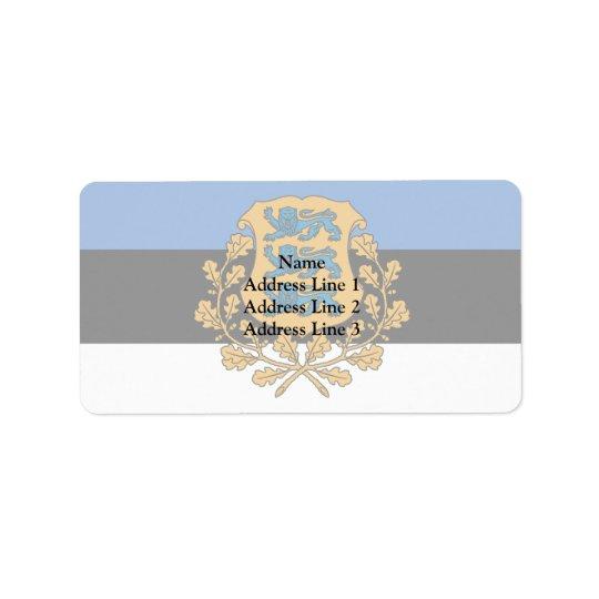 Presidential Estonia, Estonia Address Label