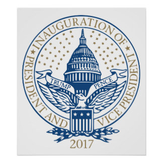 Presidential Inauguration Trump Pence 2017 Logo Poster