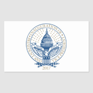Presidential Inauguration Trump Pence 2017 Rectangular Sticker