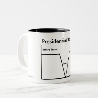 Presidential IQs and Trump Intelligence Chart Two-Tone Coffee Mug