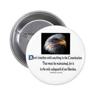 Presidential Quotes 6 Cm Round Badge