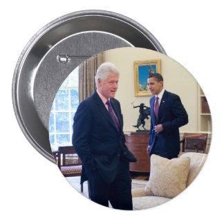 Presidents Barack Obama Bill Clinton Pins